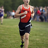 Jen Forbus - The Morning Journal<br /> North Olmsted junior Sean Whelan crosses the line third for the boys in the SWC Preview at Lorain County Community College.
