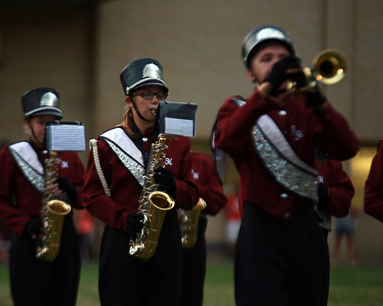 . Coleen Moskowitz - The News-Herald The band plays during the Fairport vs. Leetonia game on Aug. 27 at Fairport.