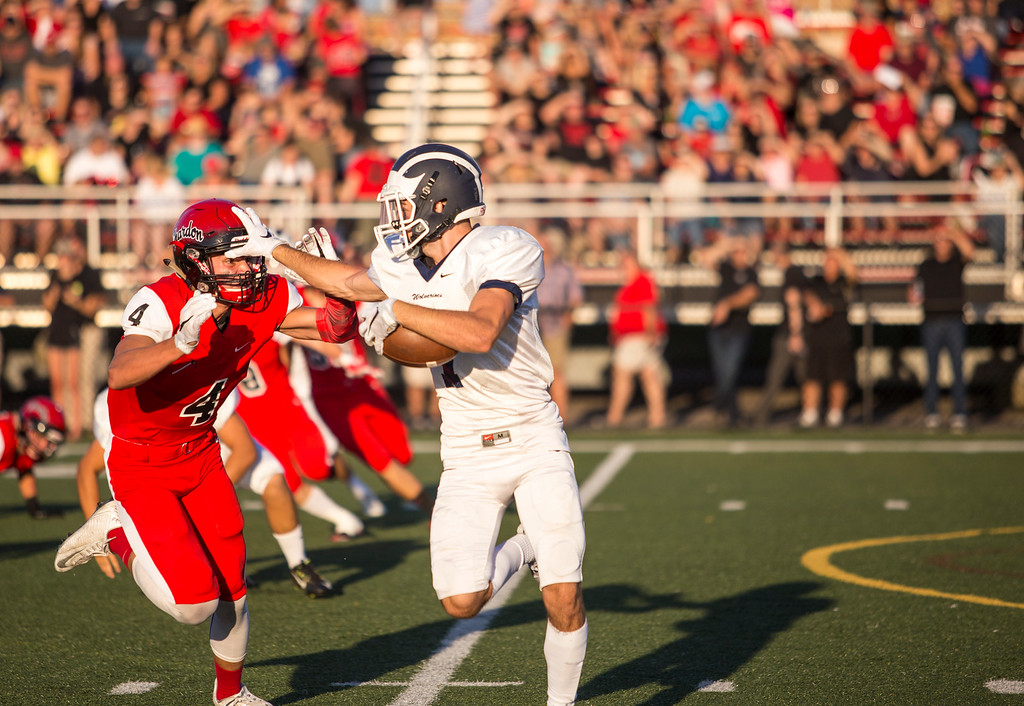 . Carrie Garland - The News-Herald Frank DiPaola on a running play for West Geauga.