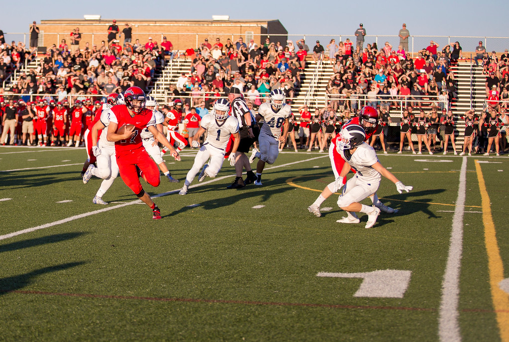 . Carrie Garland - The News-Herald Tommy Benenati gets around the edge en route to a Chardon touchdown.