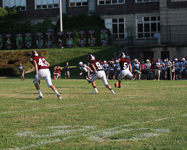 . Coleen Moskowitz - The News-Herald Opening kickoff in the Fairport vs. Leetonia game on Aug. 27 at Fairport.