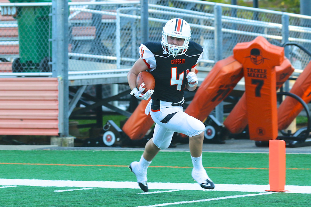 . David Turben - The News-Herald  Chagrin Falls running back Pat Holland scores the first touchdown of the game for Chagrin.