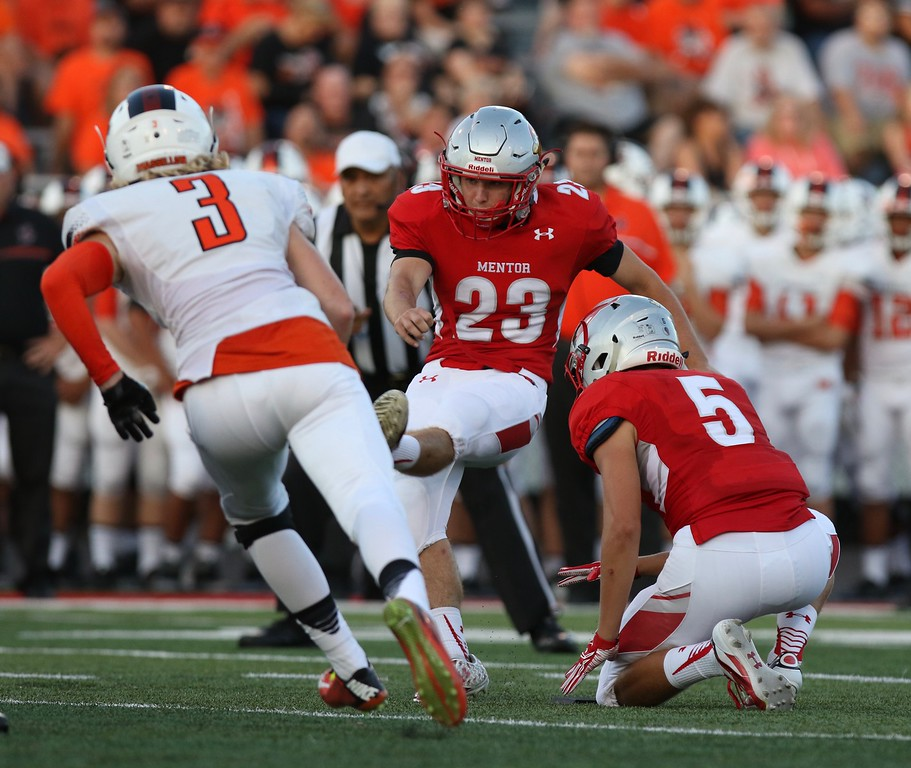 . Tim Phillis - The News-Herald Action from Mentor\'s win over Massillon on Aug. 26.