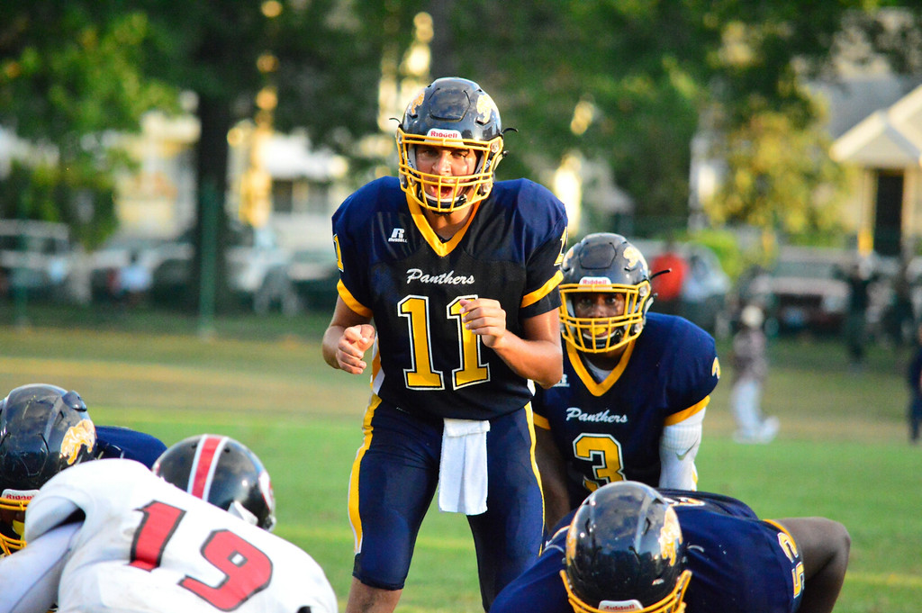 . Brittany Chay - The News-Herald Euclid\'s Noah Mitchell, shown against Glenville on Aug. 25 at Euclid.
