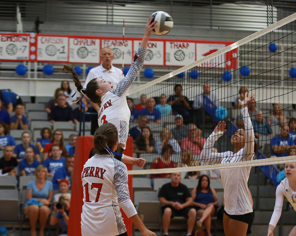 . Coleen Moskowitz - The News-Herald Photos from the Geneva vs. Perry volleyball match Aug. 30 at Perry.