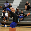 Randy Meyers - The Morning Journal<br /> Gretchen Hack of Midview serves  against Columbia during the first set on Saturday Sept 01