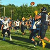 Brittany Chay - The News-Herald<br /> Kirtland tight end Owen Loncar tracks a pass from quarterback Dylan Fulco.