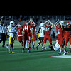 Coleen Moskowitz - The News-Herald<br /> Perry players celebrate a safety in the fourth quarter against Brush. Perry won, 8-3.