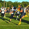 Brittany Chay - The News-Herald<br /> Kirtland tight end Owen Loncar catches a pass behind a Grand Valley defender.