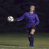 Jen Forbus - The News-Herald<br /> Olmsted Falls goalie Mackenzie Simon flings the ball back into play.