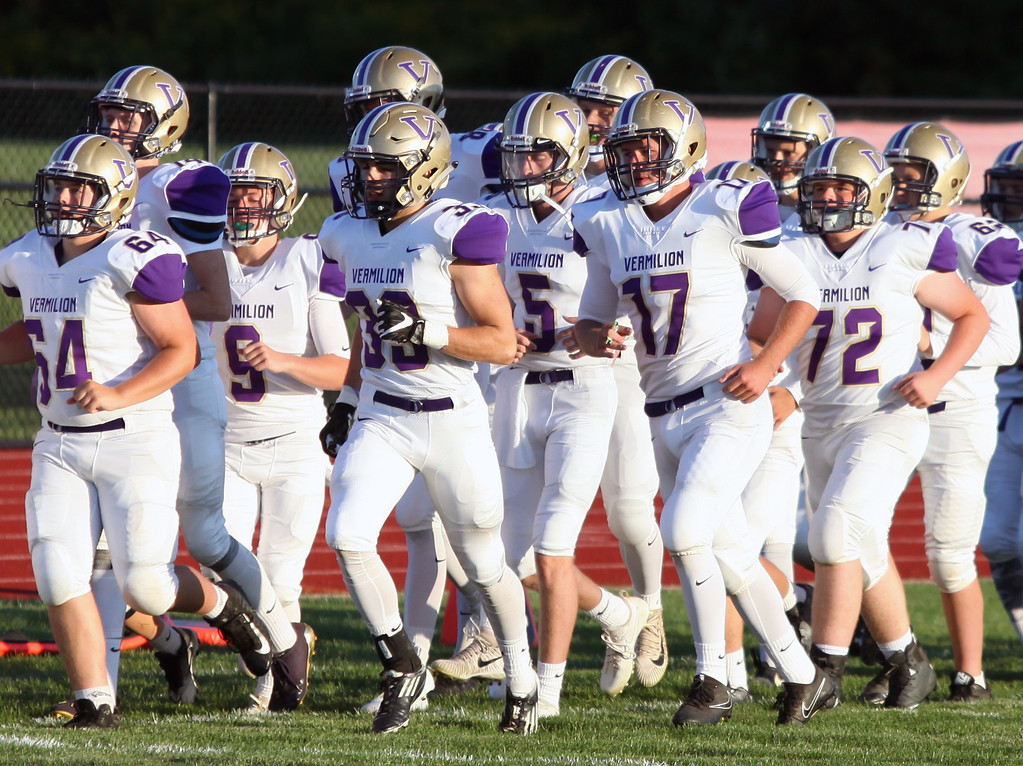 . Randy Meyers - The Morning Journal<br> The Vermilion Sailors take the field on Sept. 8 against Firelands.
