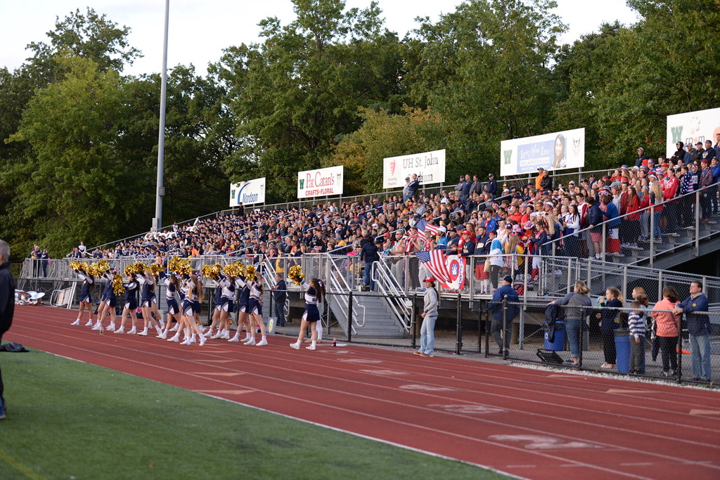 . Aimee Bielozer - The Morning Journal<br> The Olmsted Falls faithful traveled well for a road game against Westlake on Sept. 8.