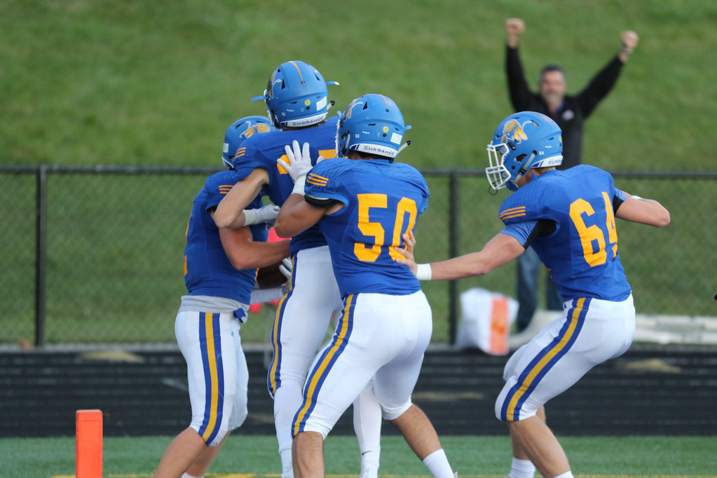 . David Turben - The News-Herald NDCL celebrates its first touchdown against University.