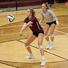Jen Forbus - The Morning Journal<br> Rocky River's Olivia Young returns a serve from North Olmsted on Sept. 8.