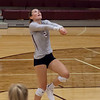 Jen Forbus - The Morning Journal<br> Rocky River's Raygan Murray bumps the ball in the Pirates' contest against the North Olmsted Eagles on Sept. 8.