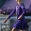 Eric Bonzar—The Morning Journal<br /> Head Majorette Haley Nabors, 17, leads the Vermilion High School Marching Band, Sept. 9, 2016.