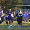 Eric Bonzar—The Morning Journal<br /> Head Majorette Haley Nabors, 17, leads the Vermilion High School Marching Band on to the field prior to the start of the Sailors' football game against the Firelands Falcons, Sept. 9, 2016.
