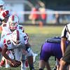 Eric Bonzar—The Morning Journal<br /> Firelands quarterback Michael Bansek (16) takes the snap from center Calvin Stull, Sept. 9, 2016.