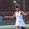 Avon's Gabby Wegener returns a serve in a doubles match. Randy Meyers  -- The Morning Journal