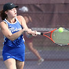 Midview's Stefanie Gipson backhands a return against Avon Lake during a singles match. Randy Meyers -- The Morning Journal