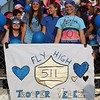 Randy Meyers - The Morning Journal<br /> The Amherst student body shows support for Trooper Velez and his son, Christian, on Friday night against Berea-Midpark.