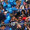 Randy Meyers - The Morning Journal<br /> The color blue was everywhere throughout the Amherst grandstand on Friday night to show support for fallen officers.