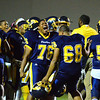 Brittany Chay - The News-Herald<br /> Euclid celebrates its 47-37 victory over Mentor on Sept. 15 at Euclid