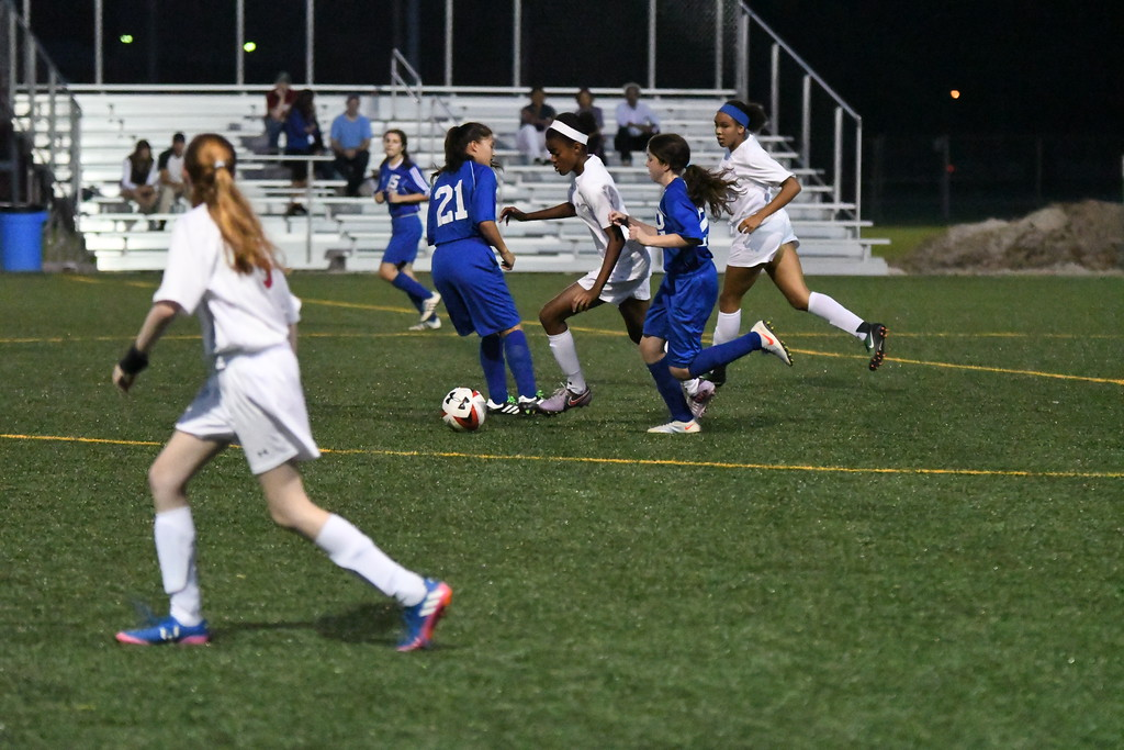 . Patrick Hopkins Action from the VASJ-Fuchs Mizrachi girls soccer match on Sept. 18 at Euclid.