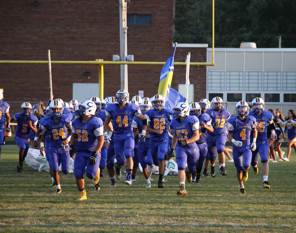 . Nicholas Pfeifer - The Morning Journal<br> The Clearview Clippers take the field against the Brookside Cardinals on Sept. 22.
