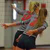 Paul DiCicco - The News-Herald<br /> Mentor plans for a serve during the NEO Power tournament on Sept. 25 at Mentor.