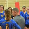 Paul DiCicco - The News-Herald<br /> NDCL Coach Ray talking it over with his team in a timeout during the NEO Power tournament on Sept. 25 at Mentor.