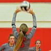 Paul DiCicco - The News-Herald<br /> Mentor's Alexa Cundy during the NEO Power tournament on Sept. 25 at Mentor.