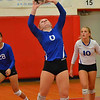 Paul DiCicco - The News-Herald<br /> Gilmour's Megan Brzozowski, during the NEO Power tournament on Sept. 25 at Mentor.