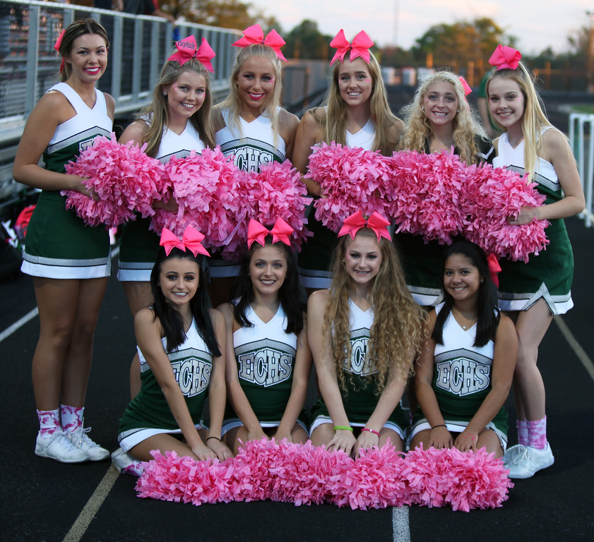 . The Elyria Catholic cheerleaders. Randy Meyers -- The Morning Journal
