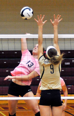 John P. Cleary | The Herald Bulletin<br /> Lapel vs Alexandria in volleyball.