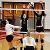 John P. Cleary | The Herald Bulletin<br /> Alexandria vs Frankton volleyball.