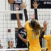 John P. Cleary | The Herald Bulletin<br /> Lapel 2A volleyball sectional. Monroe Central vs Lapel.