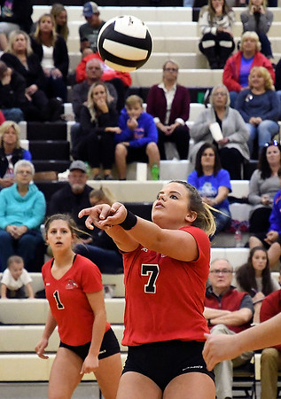 John P. Cleary | The Herald Bulletin<br /> Lapel 2A volleyball sectional. Elwood vs Frankton.