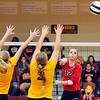 John P. Cleary | The Herald Bulletin<br /> Alexandria vs Frankton in Sectional volleyball.