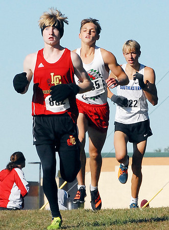 Noah Price ran a strong race for the Liberty Christian Lions team.