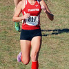 Kayla Quimby makes the turn for the Frankton girls cross country team.