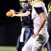 John P. Cleary |  The Herald Bulletin<br /> Shenandoah's quarterback Peyton Starks lets go with a pass.
