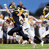 John P. Cleary |  The Herald Bulletin<br /> Shenandoah's running back Joe Huff out runs the Monroe Central defense to score his second touchdown of the game.