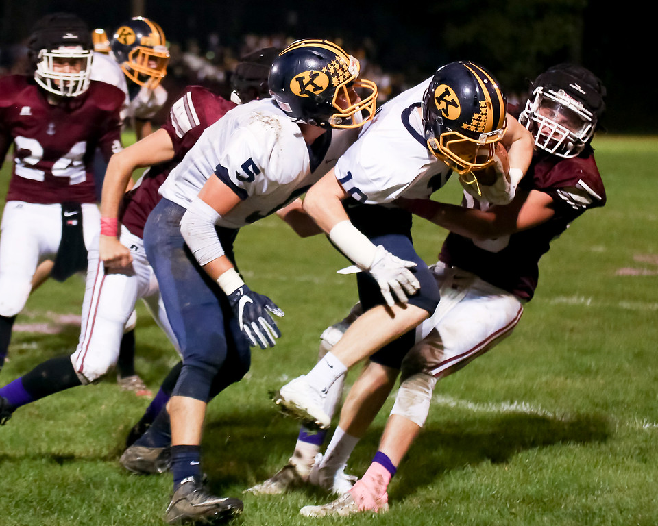 . Coleen Moskowitz - The News-Herald Action from the Fairport-Kirtland football game on Oct. 12, 2017, at Fairport\'s Greig Field.