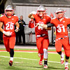 Brittany Chay - The News-Herald<br /> Tommy Klepcyk (31) celebrates an interception during Mentor's victory over visiting Strongsville on Oct. 13.
