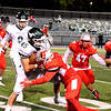 Brittany Chay - The News-Herald<br /> Mentor's Will LaGanke tackles Strongsville's Nick Caruso during Mentor's victory over visiting Strongsville on Oct. 13.