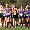 Randy Meyers - The Morning Journal<br /> The girls race at the Southwestern Conference championships on Oct. 15 Lorain County Community College.