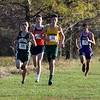 Randy Meyers - The Morning Journal<br /> The top four finishers during the Boys 5k on Saturday  are together throughout the course. They are Sebastian  Francesco of Westlake, Sean Peterson of Berea- Midpark, Josh Hill  of Amherst Steele, and Zach Zwierecki of Avon.