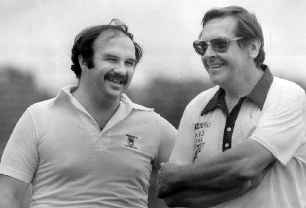 . News-Herald file Frank Platzar, left, and Mike Jacezsco in June 1984.