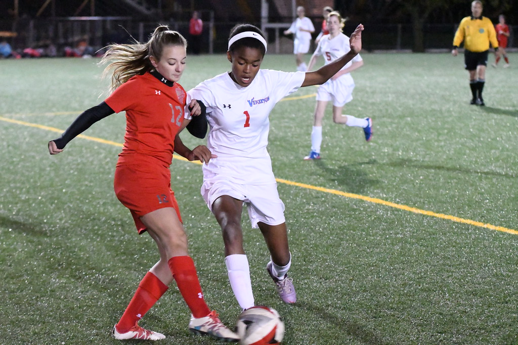 . Patrick Hopkins - The News-Herald Action from the VASJ-Edgewood girls soccer match, held Oct. 16, 2017, at Euclid.